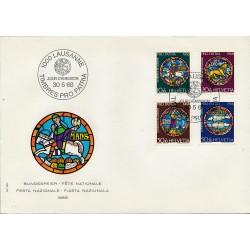 1968 - Switzerland  Sc# B374/B377  F.D.C.  Nice. Pro Patria 68 (Scott)