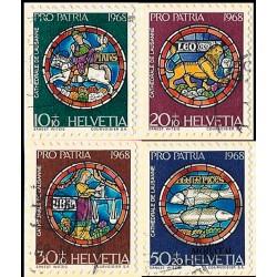 1968 - Switzerland  Sc# B374/B377  © Used, Nice. Pro Patria 68 (Scott)