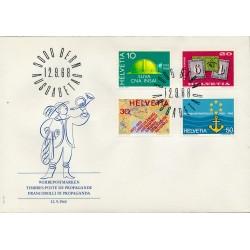 1968 - Switzerland  Sc# 491/494  F.D.C.  Nice. Years Events (Scott)