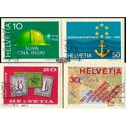 1968 - Switzerland  Sc# 491/494  © Used, Nice. Years Events (Scott)