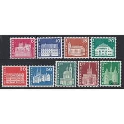 1968 - Switzerland  Sc# 440/445, 447/448, 450  ** MNH Very Nice. Postal history motifs and architectural monuments. (Scott)