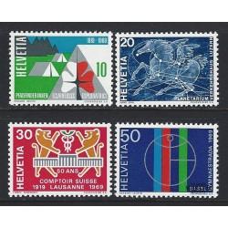 1969 - Switzerland  Sc# 495/498 (-499)  ** MNH Very Nice. Years Events (Scott)