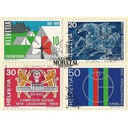 1969 - Switzerland  Sc# 495/498 (-499)  © Used, Nice. Years Events (Scott)