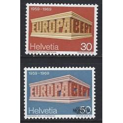1969 - Switzerland  Sc# 500/501  ** MNH Very Nice. Europa 69 (Scott)
