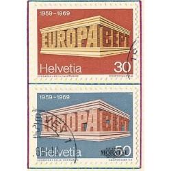 1969 - Switzerland  Sc# 500/501  © Used, Nice. Europa 69 (Scott)