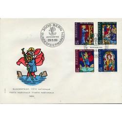 1969 - Switzerland  Sc# B382/B385  F.D.C.  Nice. Pro Patria 69 (Scott)