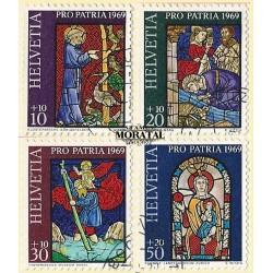 1969 - Switzerland  Sc# B382/B385  © Used, Nice. Pro Patria 69 (Scott)