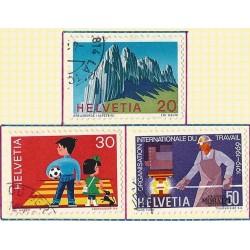 1969 - Switzerland  Sc# 507/509  © Used, Nice. Years Events (Scott)