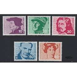 1969 - Switzerland  Sc# 502/506  ** MNH Very Nice. Famous Swiss (Scott)