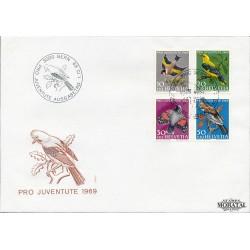 1969 - Switzerland  Sc# B386/B389  F.D.C.  Nice. Pro Juventute 69 (Scott)