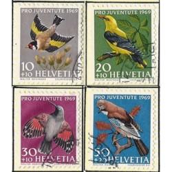 1969 - Switzerland  Sc# B386/B389  © Used, Nice. Pro Juventute 69 (Scott)