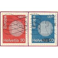 1970 - Switzerland  Sc# 515/516  © Used, Nice. Europa 70 (Scott)