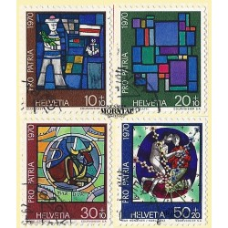 1970 - Switzerland  Sc# B390/B393  © Used, Nice. Pro Patria 70 (Scott)