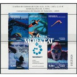 2003 Espagne BF-116 BF. Championnat du monde de natation de Barcelone  **MNH TTB Très Beau  (Yvert&Tellier)