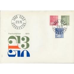 1970 - Switzerland  Sc# 521/523  F.D.C.  Nice. Control Number (Scott)