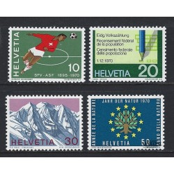 1970 - Switzerland  Sc# 517/520  ** MNH Very Nice. Years Events (Scott)