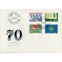 1970 - Switzerland  Sc# 517/520  F.D.C.  Nice. Years Events (Scott)