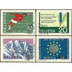 1970 - Switzerland  Sc# 517/520  © Used, Nice. Years Events (Scott)