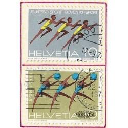 1971 - Switzerland  Sc# 524/525  © Used, Nice. Gymnastics and Sports (Scott)