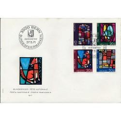 1971 - Switzerland  Sc# B398/B401  F.D.C.  Nice. Pro Patria 71 (Scott)