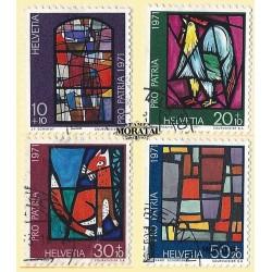 1971 - Switzerland  Sc# B398/B401  © Used, Nice. Pro Patria 71 (Scott)