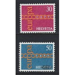 1971 - Switzerland  Sc# 531/532  ** MNH Very Nice. Europa 71 (Scott)