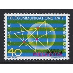 1971 - Switzerland  Sc# 534  ** MNH Very Nice. Telecommunications Symbols (Scott)