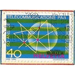 1971 - Switzerland  Sc# 534  © Used, Nice. Telecommunications Symbols (Scott)