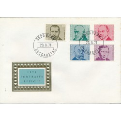 1971 - Switzerland  Sc# 535/539  F.D.C.  Nice. Physicians (Scott)