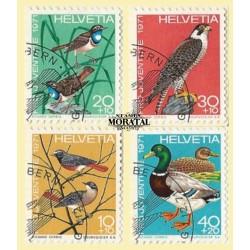 1971 - Switzerland  Sc# B402/B405  © Used, Nice. Pro Juventute 71 (Scott)