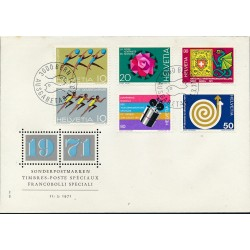 1971 - Switzerland  Sc# 526/529  0. Years Events (Scott)