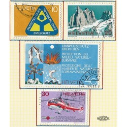 1972 - Switzerland  Sc# 551/554  © Used, Nice. Years Events (Scott)