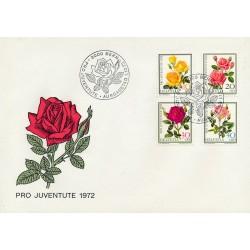 1972 - Switzerland  Sc# B411/B413  F.D.C.  Nice. Pro Juventute 72 (Scott)