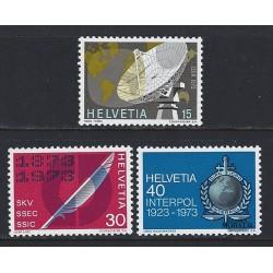 1973 - Switzerland  Sc# 555/557  ** MNH Very Nice. Years Events (Scott)