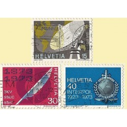 1973 - Switzerland  Sc# 555/557  © Used, Nice. Years Events (Scott)