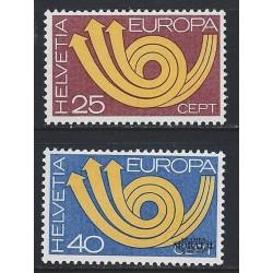 1973 - Switzerland  Sc# 580/581  ** MNH Very Nice. Europa 73 (Scott)