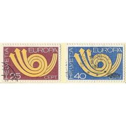1973 - Switzerland  Sc# 580/581  © Used, Nice. Europa 73 (Scott)