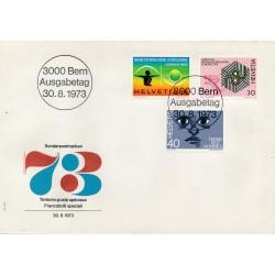1973 - Switzerland  Sc# 582  F.D.C.  Nice. Opening Intl. Clock Museum (Scott)