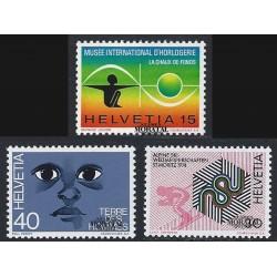 1973 - Switzerland  Sc# 582/584  ** MNH Very Nice. Years Events (Scott)
