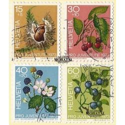 1973 - Switzerland  Sc# B418/B421  © Used, Nice. Pro Juventute 73 (Scott)