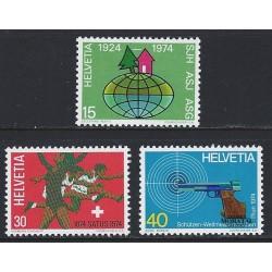 1974 - Switzerland  Sc# 586/588  ** MNH Very Nice. Years Events (Scott)
