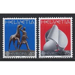 1974 - Switzerland  Sc# 594/595  ** MNH Very Nice. Europa 74 (Scott)