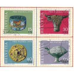 1974 - Switzerland  Sc# B422/B425  © Used, Nice. Pro Patria 74 (Scott)