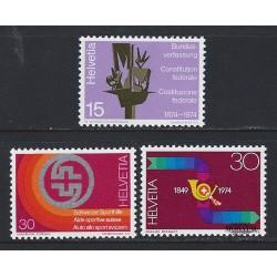 1974 - Switzerland  Sc# 596/598  ** MNH Very Nice. Years Events (Scott)