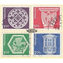 1974 - Switzerland  Sc# 568, 570, 572, 575  © Used, Nice. Landscapes and Architecture (Scott)