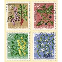 1974 - Switzerland  Sc# B426/B429  © Used, Nice. Pro Juventute 74 (Scott)