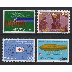 1975 - Switzerland  Sc# 599/602  ** MNH Very Nice. Years Events (Scott)