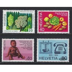 1976 - Switzerland  Sc# 610/13  ** MNH Very Nice. Years Events (Scott)