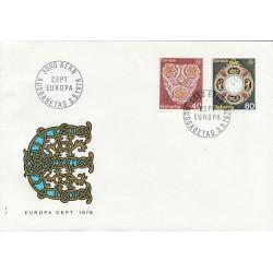 1976 - Switzerland  Sc# 614/6915  F.D.C.  Nice. Europa 76 (Scott)