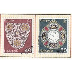 1976 - Switzerland  Sc# 614/6915  © Used, Nice. Europa 76 (Scott)